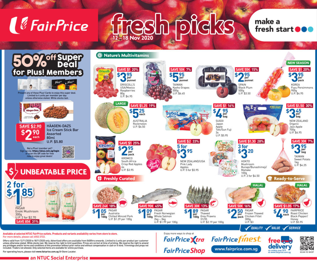 NTUC FairPrice Singapore Your Weekly Saver Promotions 12-18 Nov 2020 | Why Not Deals 4