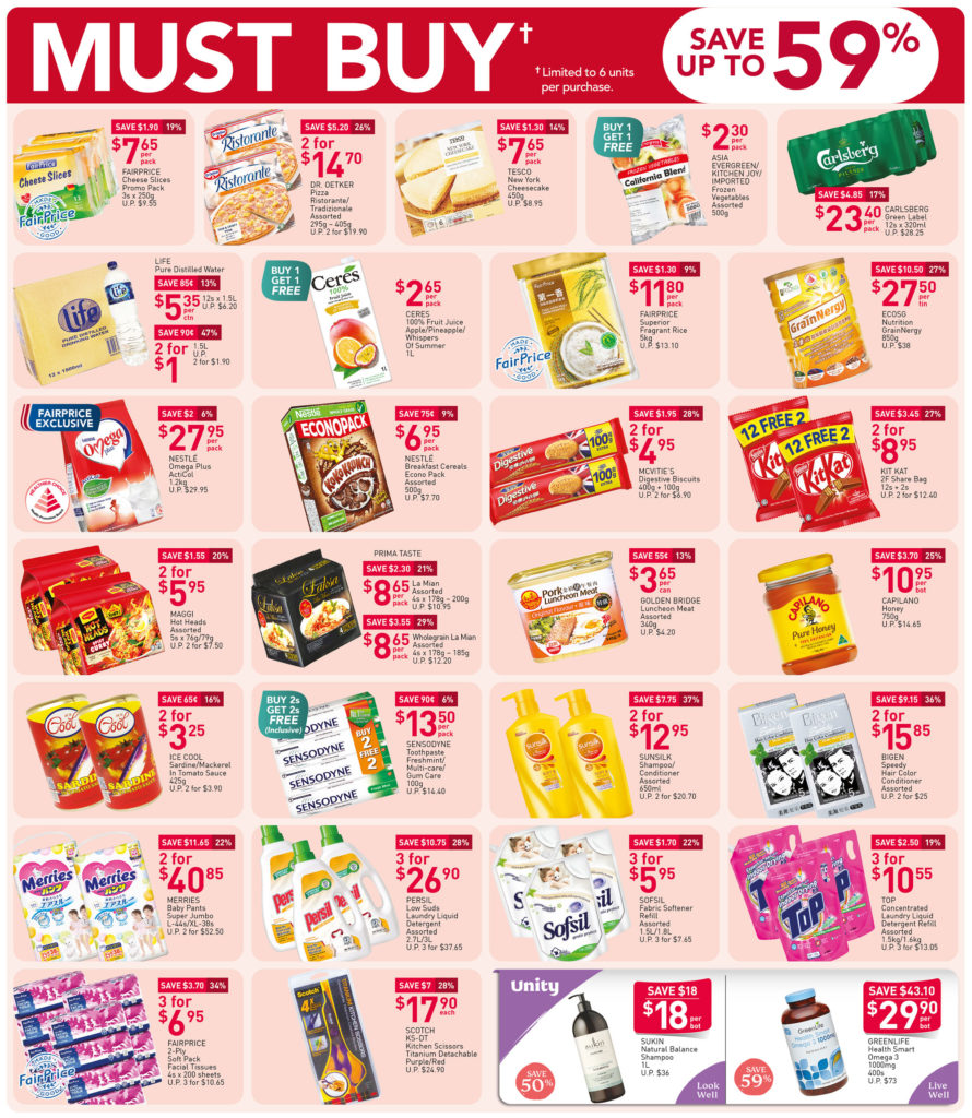 NTUC FairPrice Singapore Your Weekly Saver Promotions 12-18 Nov 2020 | Why Not Deals