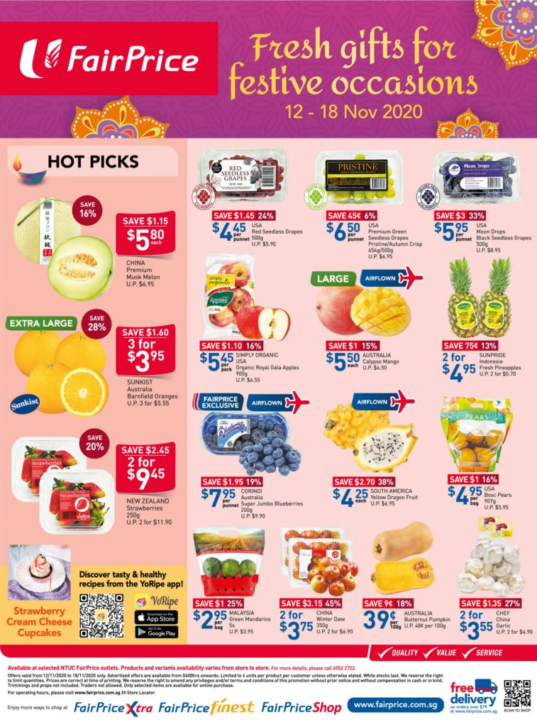 NTUC FairPrice Singapore Your Weekly Saver Promotions 12-18 Nov 2020 | Why Not Deals 8