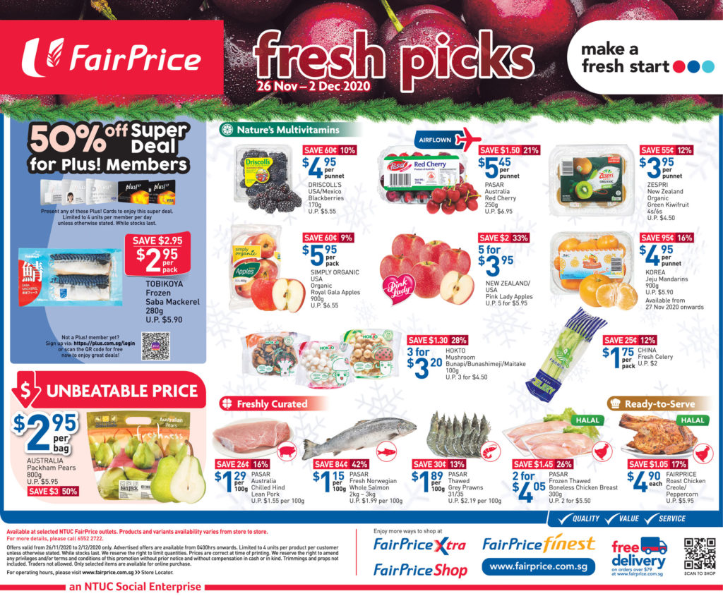 NTUC FairPrice Singapore Your Weekly Saver Promotions 26 Nov - 2 Dec 2020   Why Not Deals 1