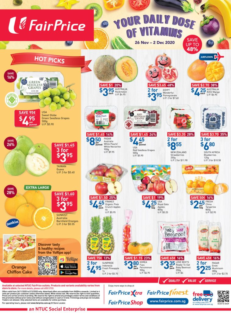 NTUC FairPrice Singapore Your Weekly Saver Promotions 26 Nov - 2 Dec 2020   Why Not Deals 2
