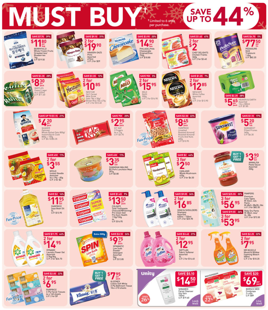 NTUC FairPrice Singapore Your Weekly Saver Promotions 26 Nov - 2 Dec 2020   Why Not Deals