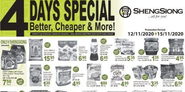 Sheng Siong Singapore 4 Days Special Promotion 12-15 Nov 2020
