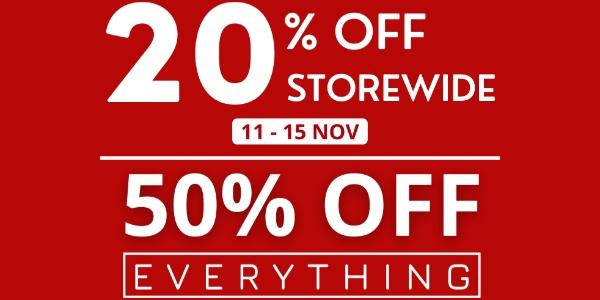 The Wallet Shop 11.11 Storewide Sale – 11 Nov to 15 Nov 2020