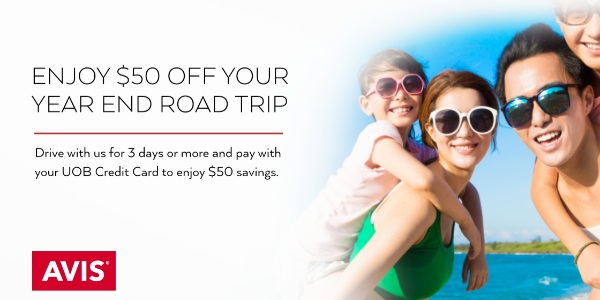 UOB Credit Card Offer | $50 off 3-day Car Rental at Avis
