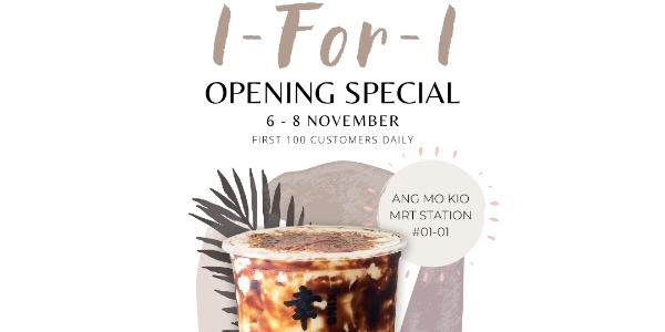 XING FU TANG ANG MO KIO GRAND OPENING SPECIAL 1-FOR-1 PROMOTION