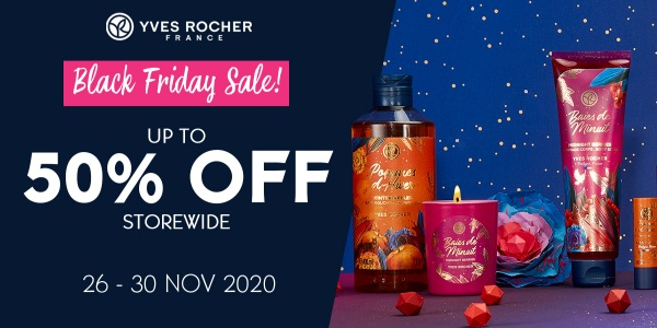 YVES ROCHER BLACK FRIDAY SALE – UP TO 50% OFF STOREWIDE!