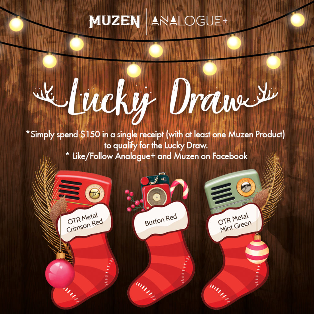 [IN-STORE EXCLUSIVE] WIN MUZEN OTR SPEAKER WHEN YOU SHOP AT ANALOGUE+ | Why Not Deals 1
