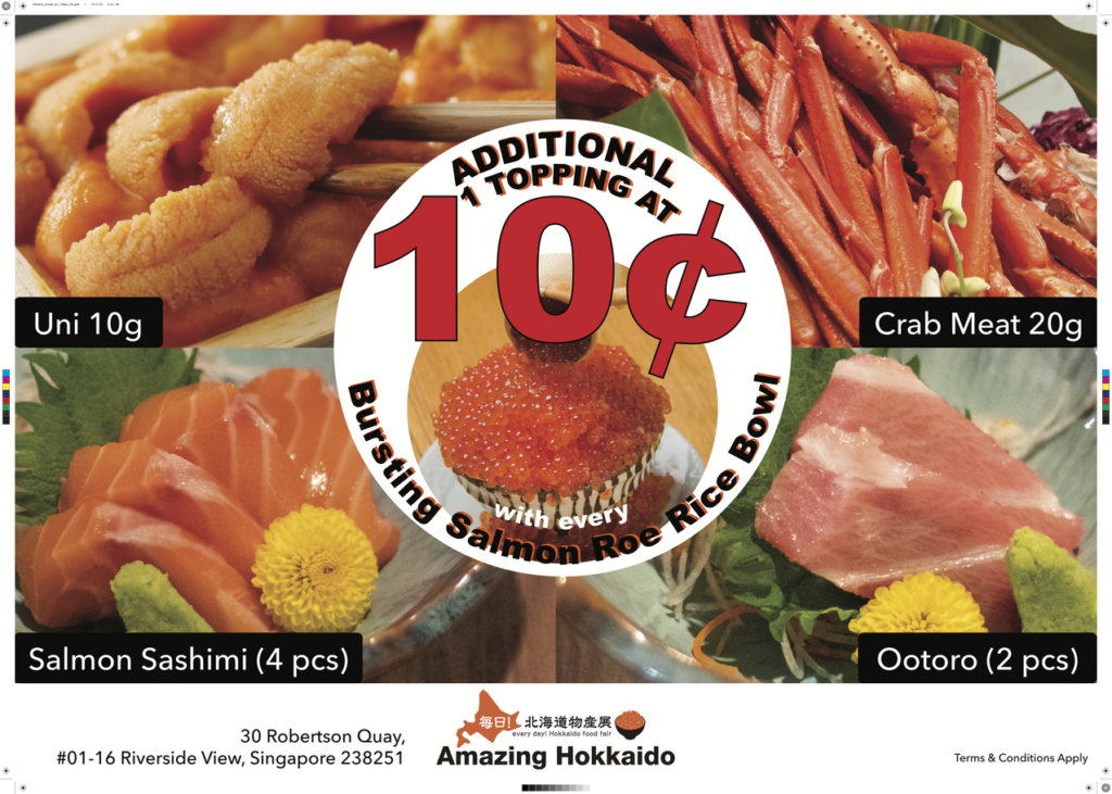 Amazing Hokkaido's 10 Cents Topping for Ikura Bowl Returns   Why Not Deals 1