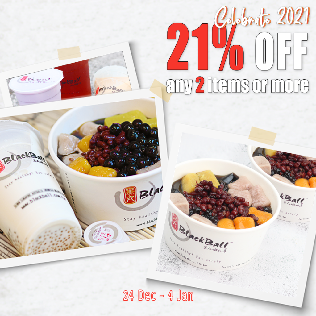 Blackball Singapore Celebrate 2021 - Get 21% OFF Promotion ends 4 Jan 2021 | Why Not Deals