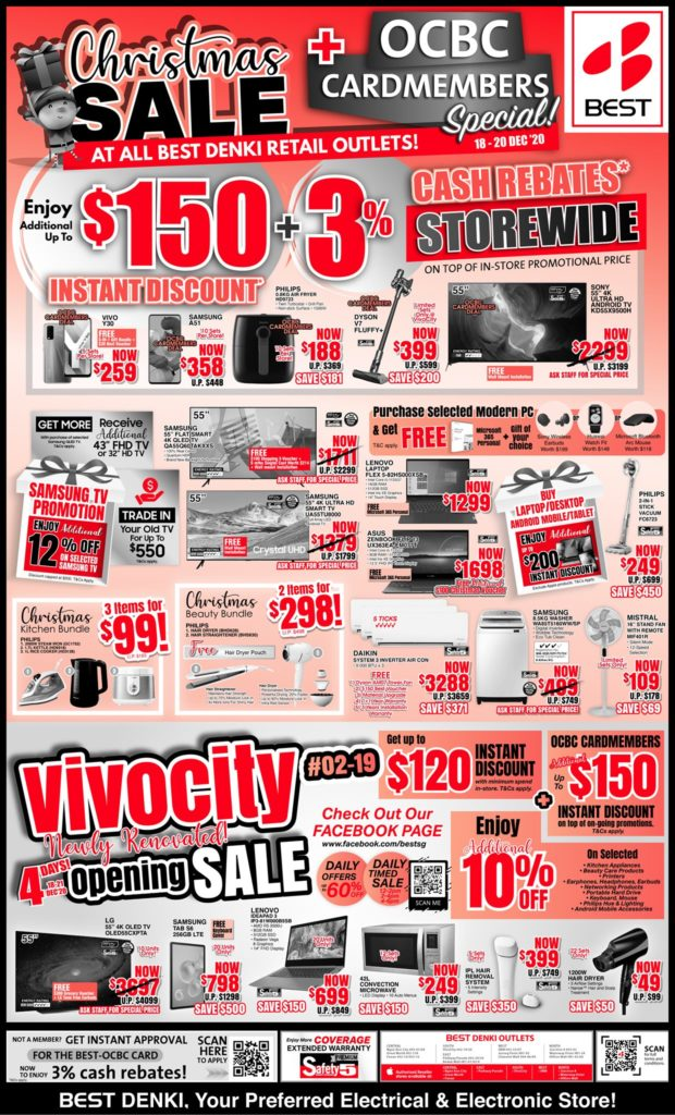 BEST Denki Singapore Christmas Sale At All Outlets 18-20 Dec 2020   Why Not Deals