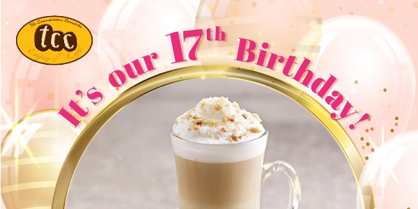 Enjoy $1.70 Latte and A Complimentary $17 Voucher for tcc- The Connoisseur Concerto's 17th Birthday