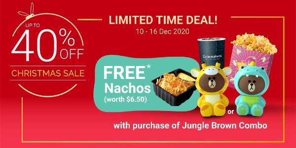Enjoy Christmas Gifting Deals of up to 40% off with Golden Village