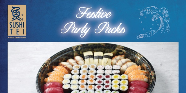 Get your Sushi Tei Festive Party Packs from 23 December 2020 till 3 January 2021!