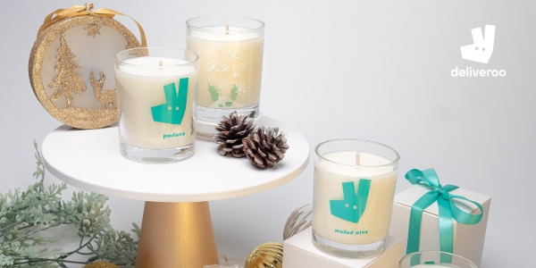 Indulge wanderlust hearts with Deliveroo's Christmas Foodie Candles Collection