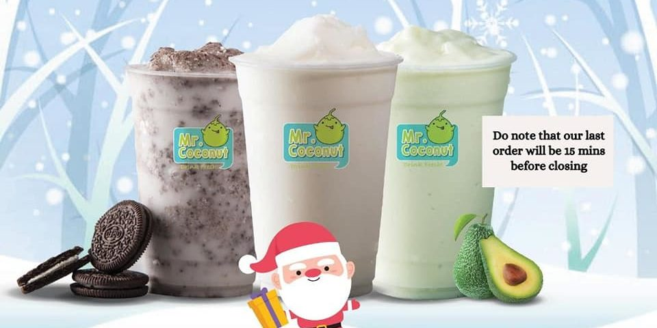 Mr Coconut Singapore 3 For $12 Christmas Bundle Promotion 23-25 Dec 2020