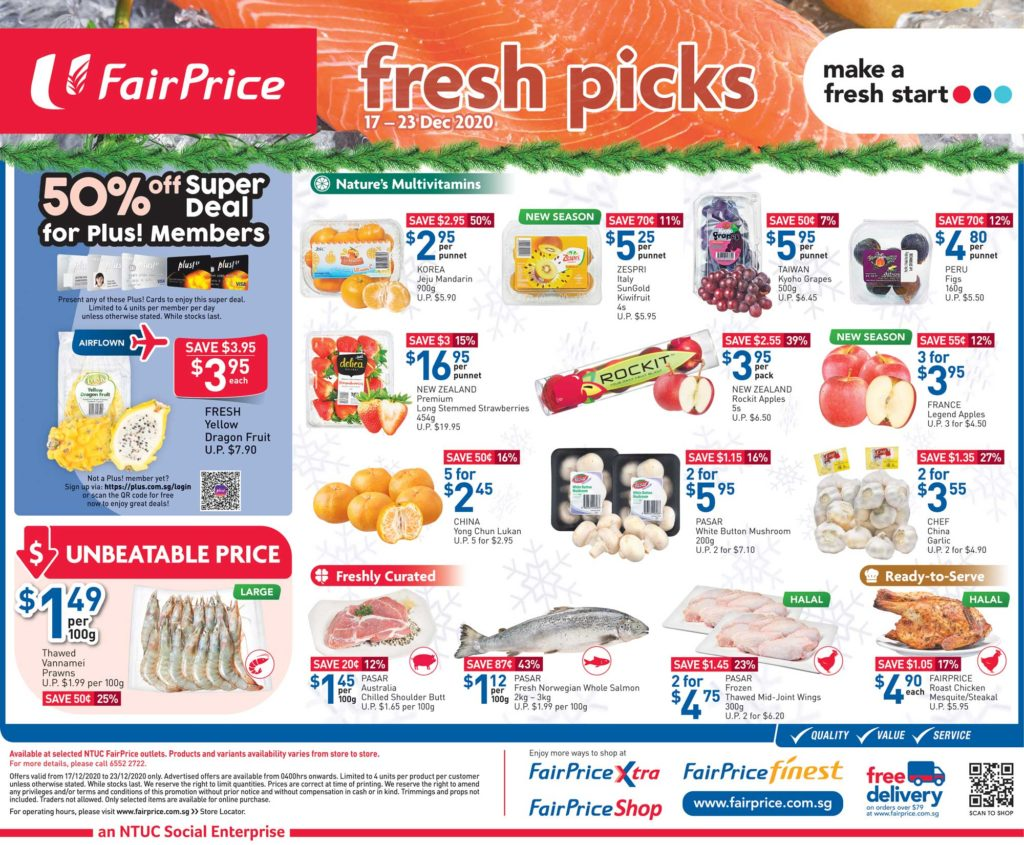 NTUC FairPrice Singapore Your Weekly Saver Promotion 17-23 Dec 2020 | Why Not Deals 5