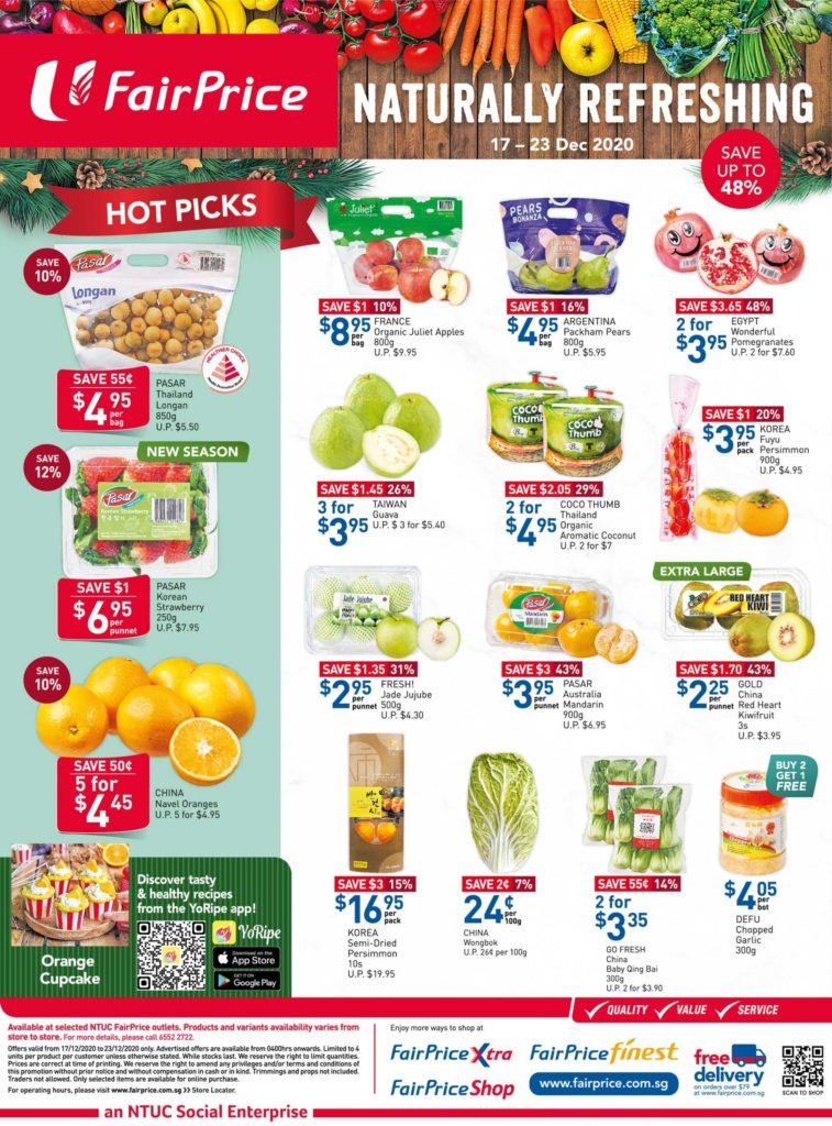 NTUC FairPrice Singapore Your Weekly Saver Promotion 17-23 Dec 2020 | Why Not Deals 6