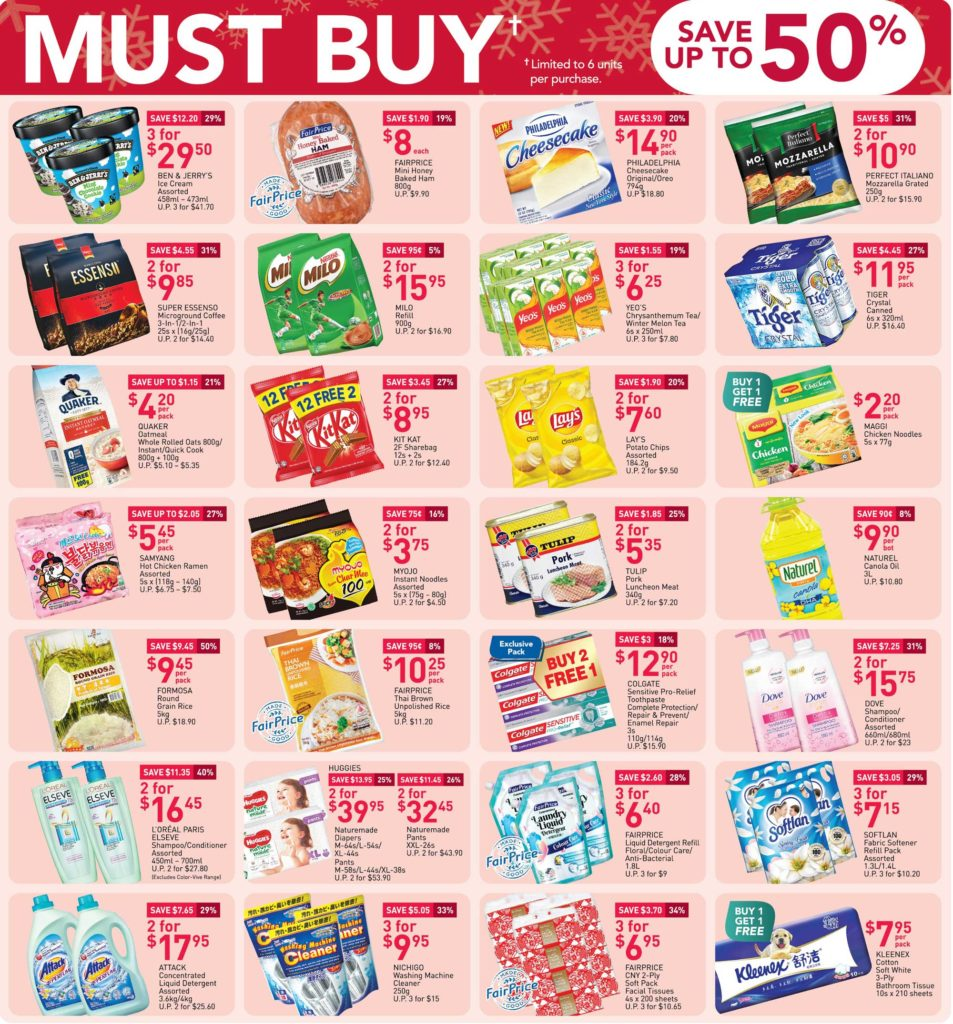 NTUC FairPrice Singapore Your Weekly Saver Promotion 17-23 Dec 2020 | Why Not Deals