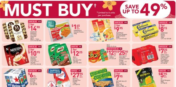 NTUC FairPrice Singapore Your Weekly Saver Promotion 31 Dec 2020 – 6 Jan 2021