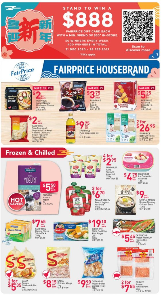 NTUC FairPrice Singapore Your Weekly Saver Promotion 31 Dec 2020 - 6 Jan 2021 | Why Not Deals 2