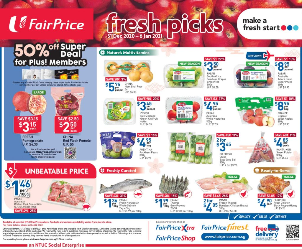 NTUC FairPrice Singapore Your Weekly Saver Promotion 31 Dec 2020 - 6 Jan 2021 | Why Not Deals 5