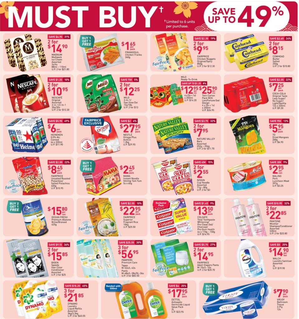 NTUC FairPrice Singapore Your Weekly Saver Promotion 31 Dec 2020 - 6 Jan 2021 | Why Not Deals