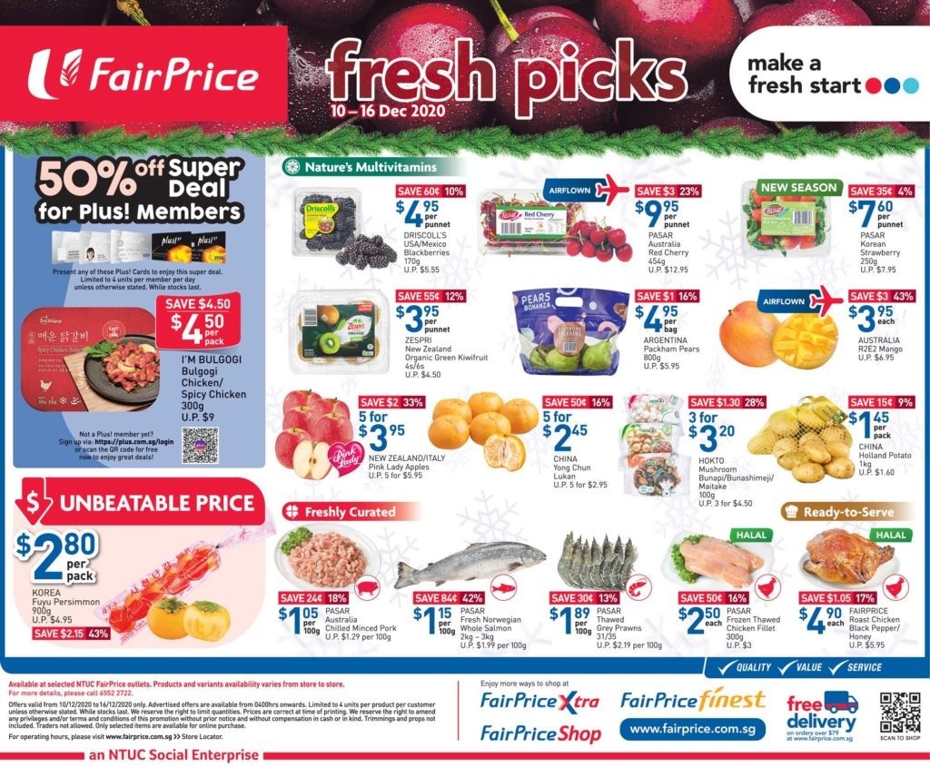 NTUC FairPrice Singapore Your Weekly Saver Promotions 10-16 Dec 2020 | Why Not Deals 2