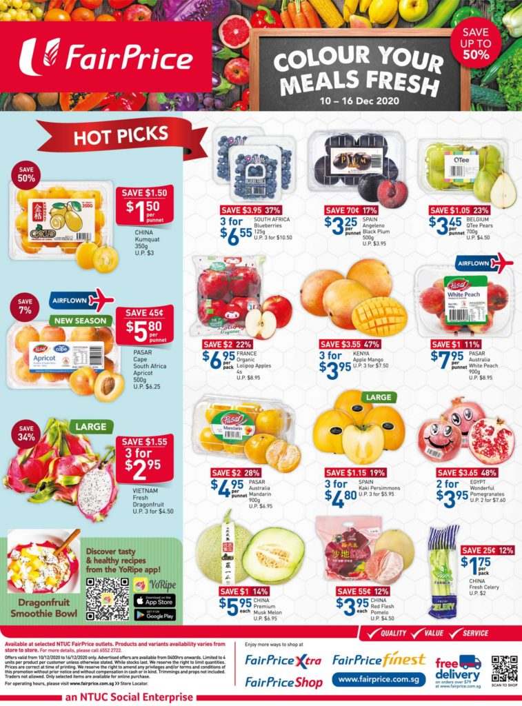 NTUC FairPrice Singapore Your Weekly Saver Promotions 10-16 Dec 2020 | Why Not Deals 3