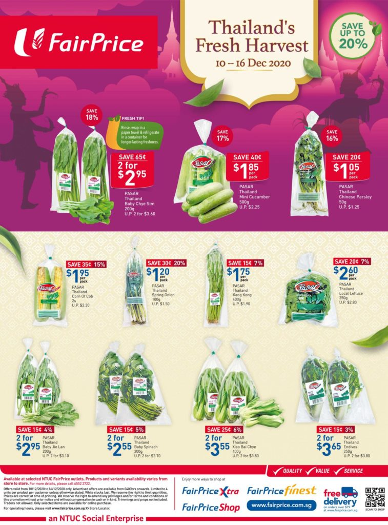 NTUC FairPrice Singapore Your Weekly Saver Promotions 10-16 Dec 2020 | Why Not Deals 4