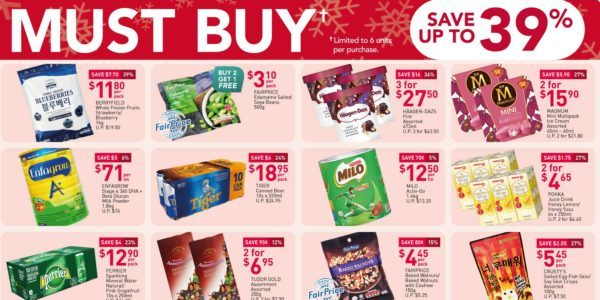 NTUC FairPrice Singapore Your Weekly Saver Promotions 24-30 Dec 2020
