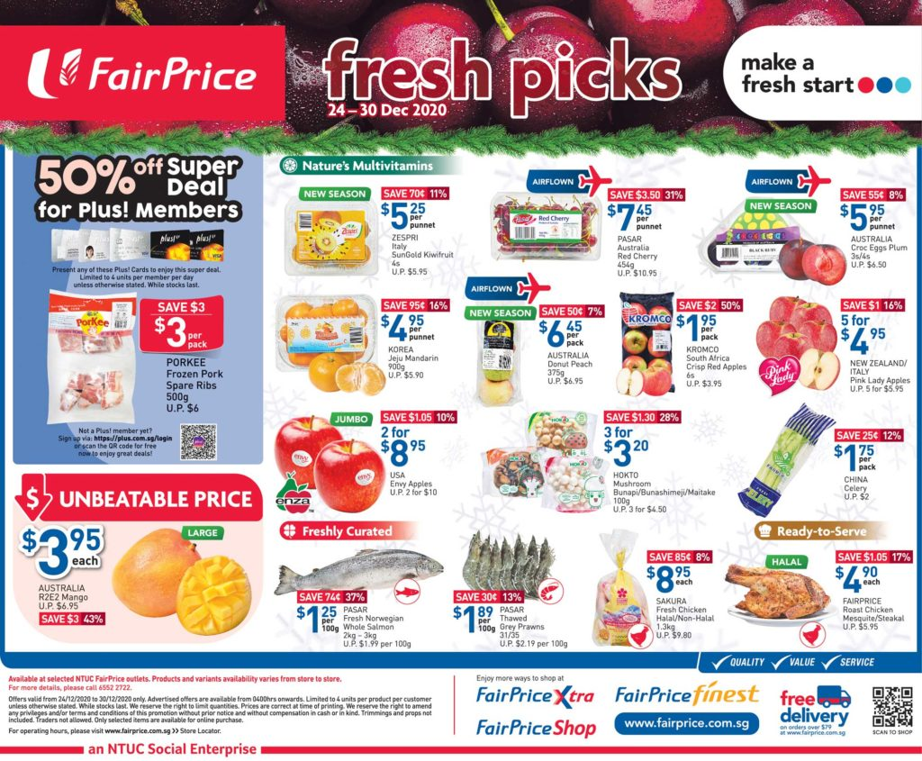NTUC FairPrice Singapore Your Weekly Saver Promotions 24-30 Dec 2020   Why Not Deals 5