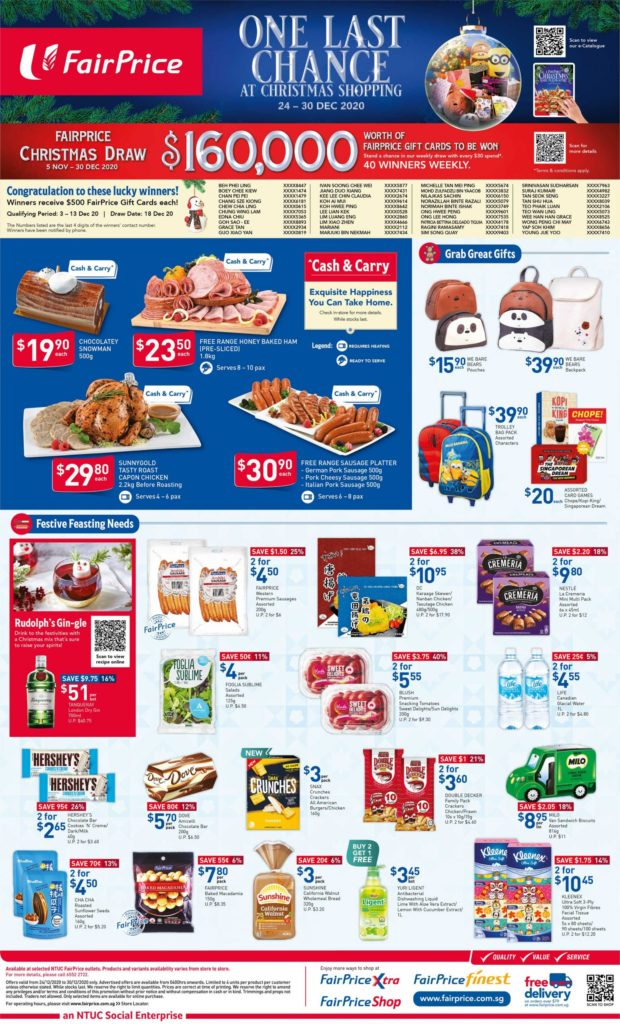 NTUC FairPrice Singapore Your Weekly Saver Promotions 24-30 Dec 2020   Why Not Deals 6