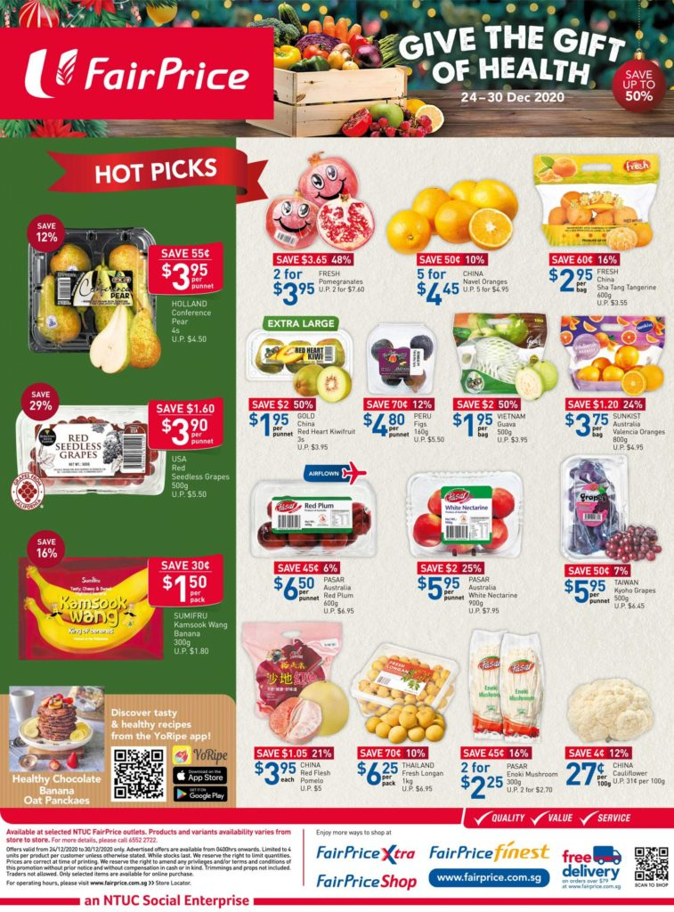 NTUC FairPrice Singapore Your Weekly Saver Promotions 24-30 Dec 2020   Why Not Deals 8