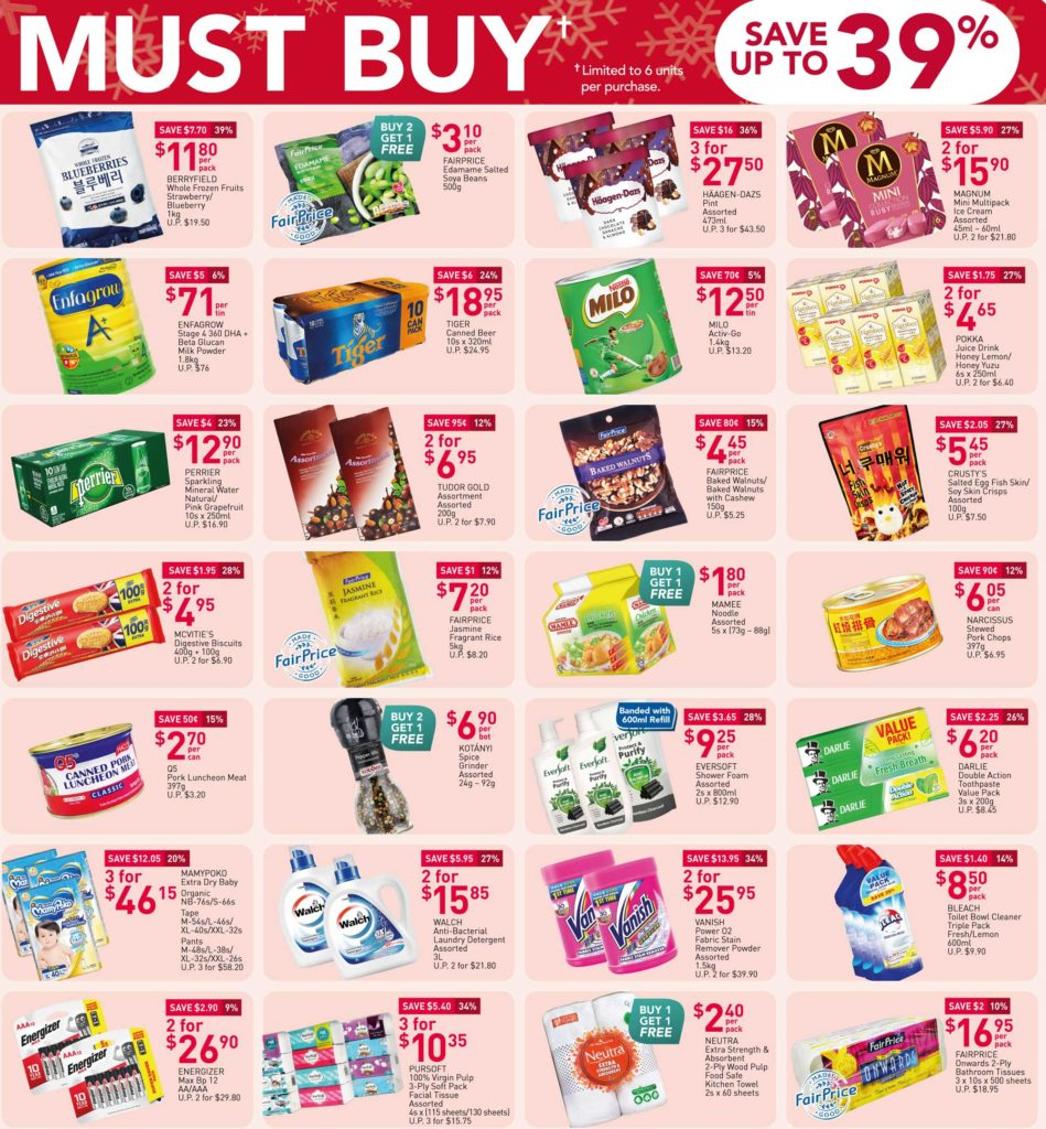 NTUC FairPrice Singapore Your Weekly Saver Promotions 24-30 Dec 2020   Why Not Deals