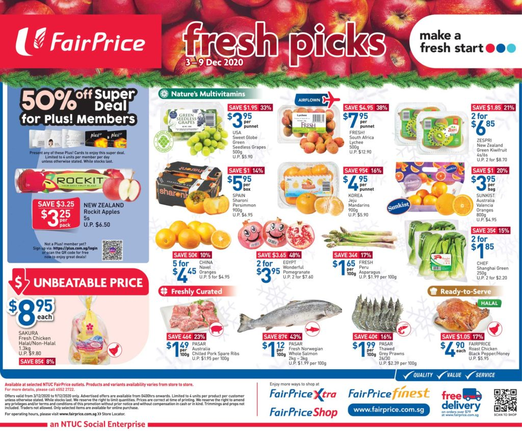 NTUC FairPrice Singapore Your Weekly Saver Promotions 3-9 Dec 2020   Why Not Deals 4