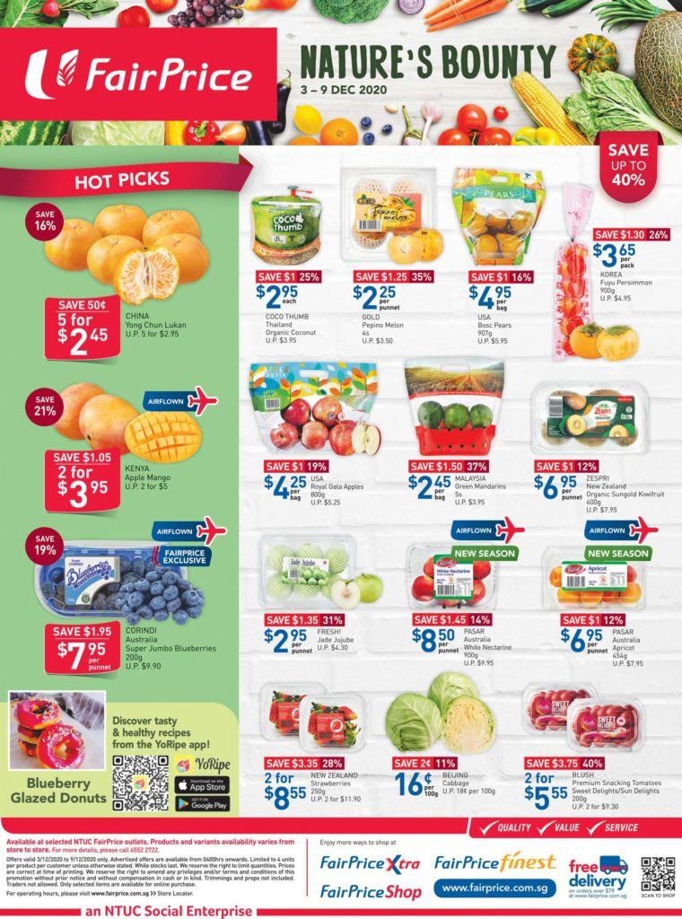 NTUC FairPrice Singapore Your Weekly Saver Promotions 3-9 Dec 2020   Why Not Deals 5