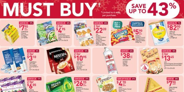 NTUC FairPrice Singapore Your Weekly Saver Promotions 3-9 Dec 2020