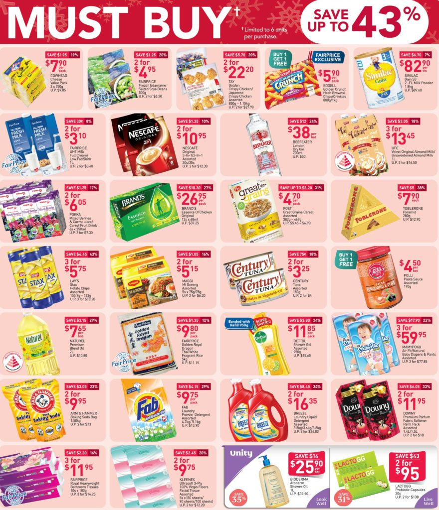 NTUC FairPrice Singapore Your Weekly Saver Promotions 3-9 Dec 2020   Why Not Deals