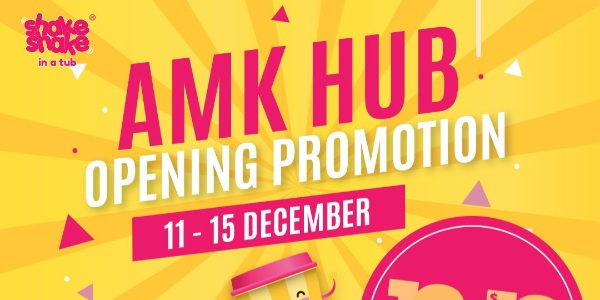 Shake Shake In A Tub Opens at AMK Hub with 12pcs for $12 Promotion