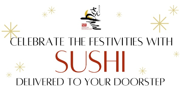 SUN with MOON Festive Sushi Bento Box Delivered Right to your Doorsteps this Christmas!