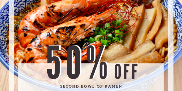 50% Off Second Bowl of Ramen at Menya Kanae (Novena) (25 – 31 January 2021)