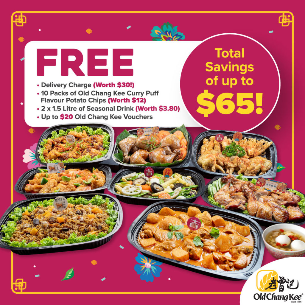 Old Chang Kee Singapore FREE Items of up to $65 for every CNY Catering Set ordered! (Savings up to 40%!) | Why Not Deals