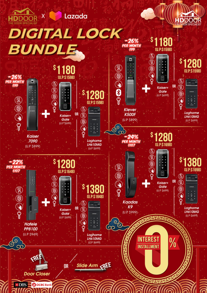 Chinese New Year Digital Lock Promotions & Sales 2021 | Why Not Deals 4