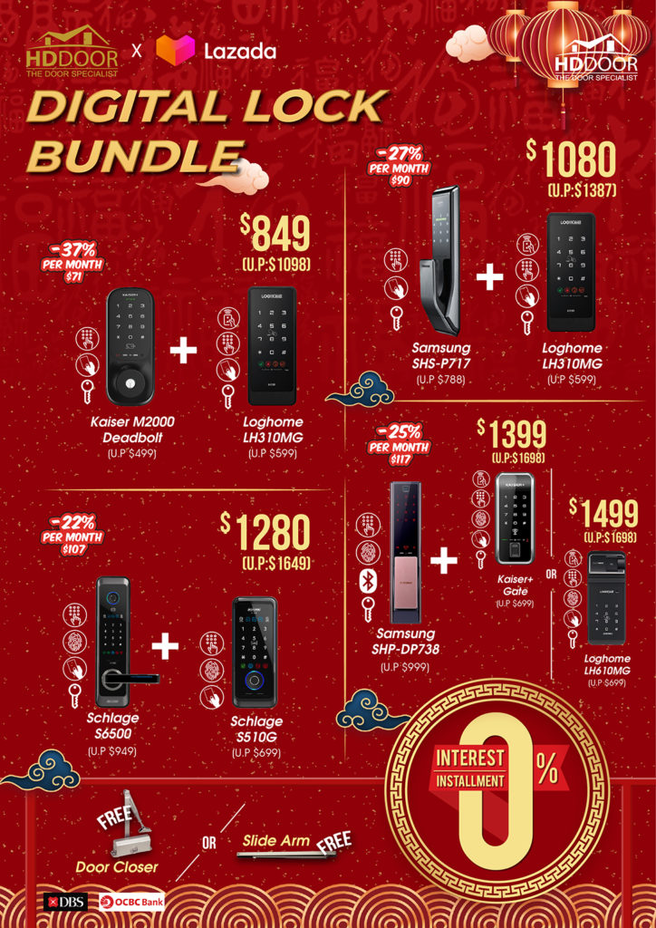 Chinese New Year Digital Lock Promotions & Sales 2021 | Why Not Deals 2