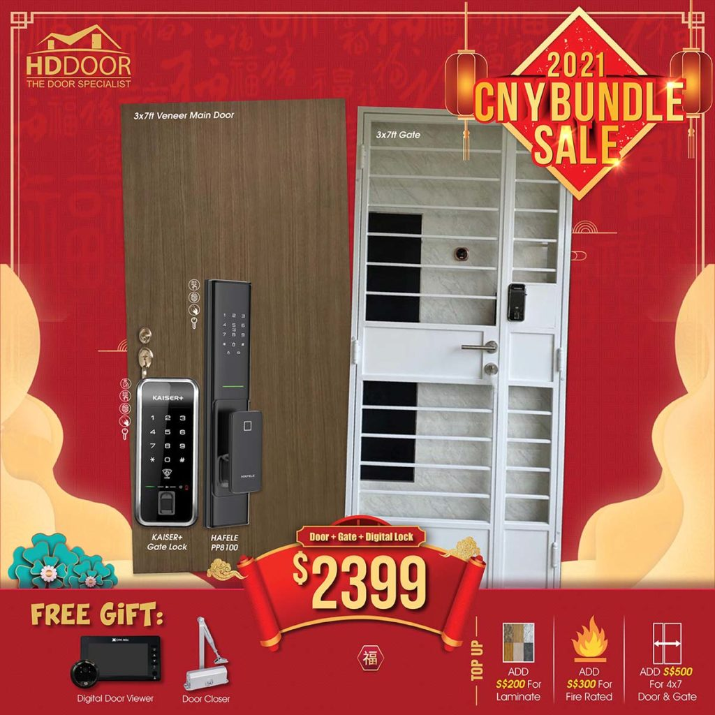 2021 Chinese New Year Special Promotion Offer For Door, Gate & Digital Lock Bundle Package | Why Not Deals