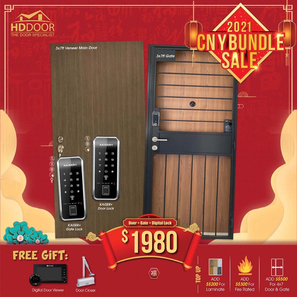 2021 Chinese New Year Special Promotion Offer For Door, Gate & Digital Lock Bundle Package | Why Not Deals 2