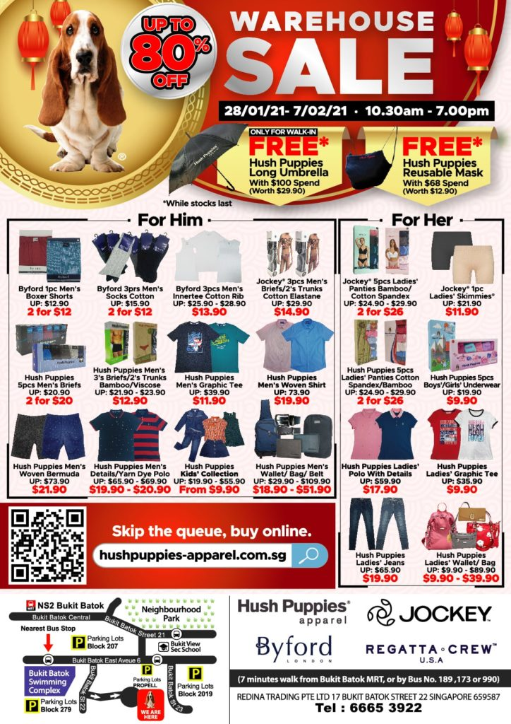 Celebrate Chinese New Year with Hush Puppies Apparel WAREHOUSE SALE up to 80% off! | Why Not Deals 1