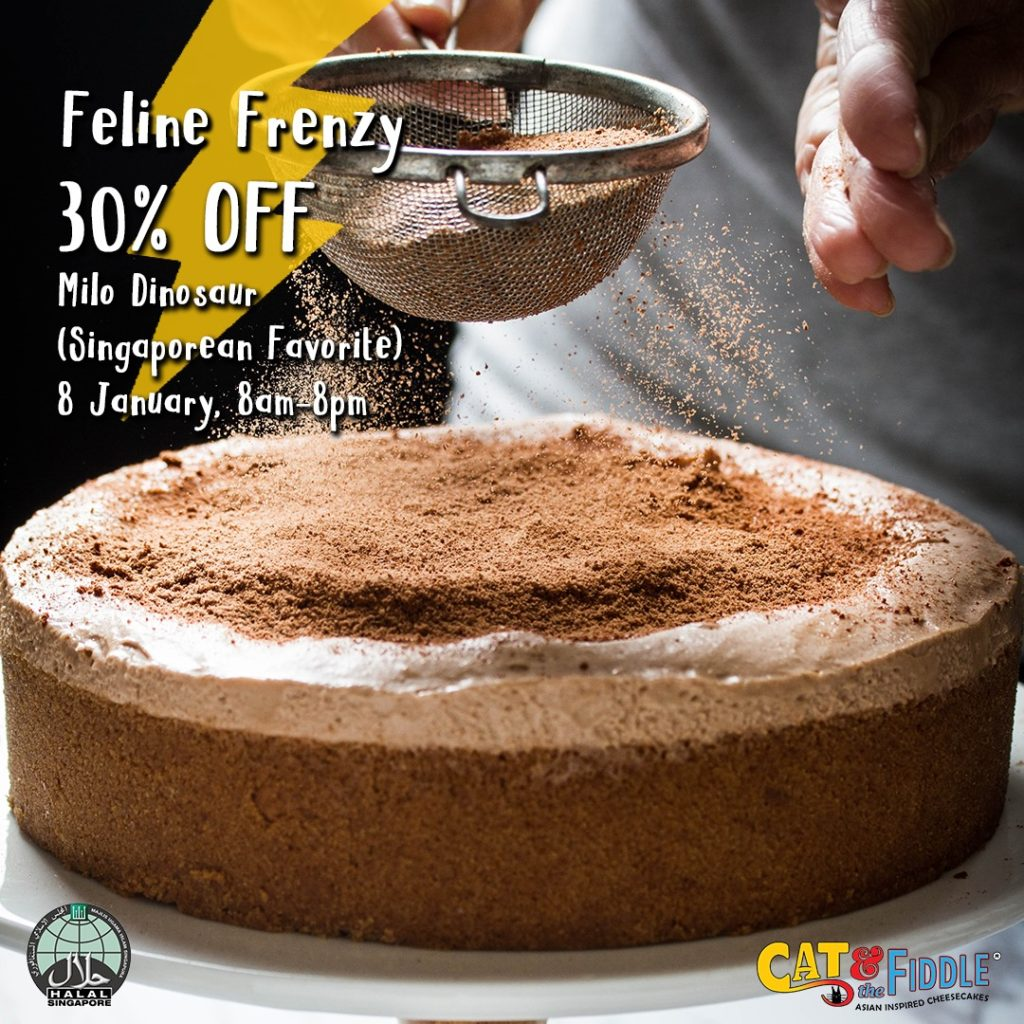 Cat & the Fiddle Cakes Singapore 30% Off Milo Dinosaur (Singaporean Favorite) Promotion only on 8 Jan 2021 | Why Not Deals
