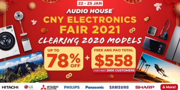 [CNY Electronics Fair 2021] Audio House Clears All 2020 Electronics Models at Up to 78% + Free $558